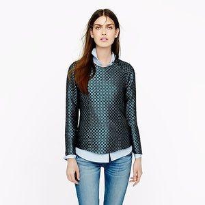 J Crew Collection Jade Foulard Silk Blouse Top 2